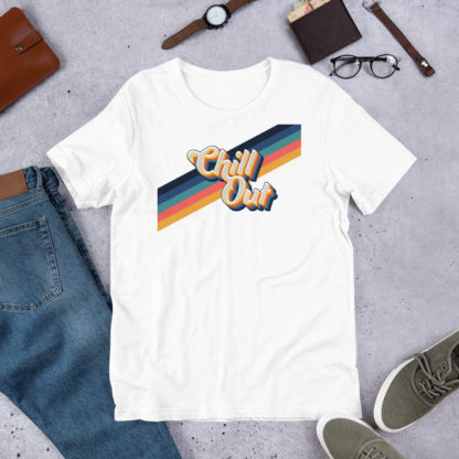 Chill Out Retro Stripes Unisex T-Shirt 1