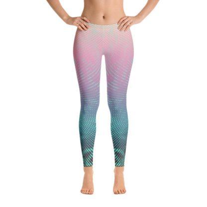 Psychedelic Leggings, Swirl of dots leggings, polka dot patterned leggings, gradient leggings, 4