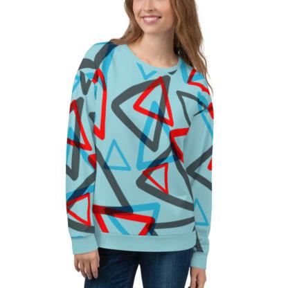 1980s Inspired Print All Over Unisex Sweatshirt 1