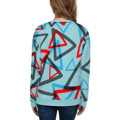 1980s Inspired Print All Over Unisex Sweatshirt 2