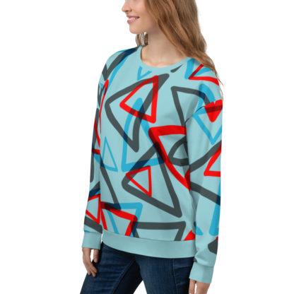 1980s Inspired Print All Over Unisex Sweatshirt 4