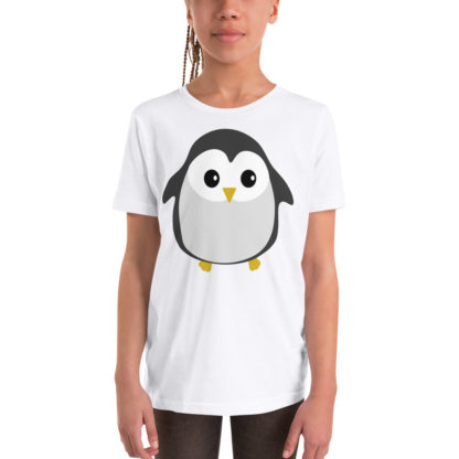 Cute Penguin Youth Short Sleeve T-Shirt 2