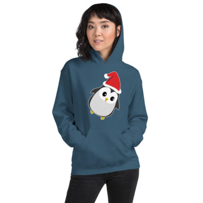 Cute Christmas Penguin Hoodie, Penguin Hooded Sweater, Xmas Penguin Hoodie 1