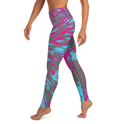 Shattered Colours Grey Yoga Leggings 3