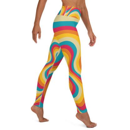 Retro Swirl Yoga Leggings 2