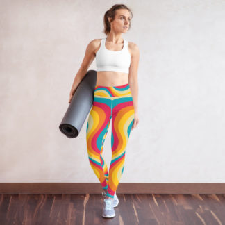 Model wearing Swirl Pattern Yoga Leggings