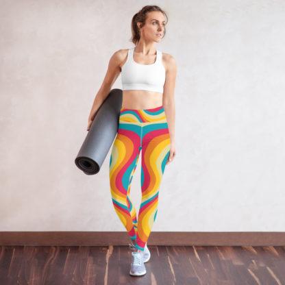 Model wearing Swirl Pattern Yoga Leggings