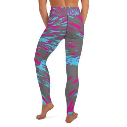 Shattered Colours Grey Yoga Leggings 5