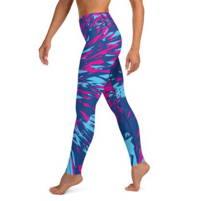 Shattered Colours Blue Yoga Leggings 3