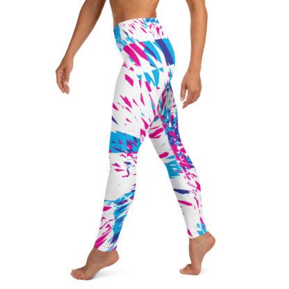 Shards of Colour Yoga Leggings (White) 3