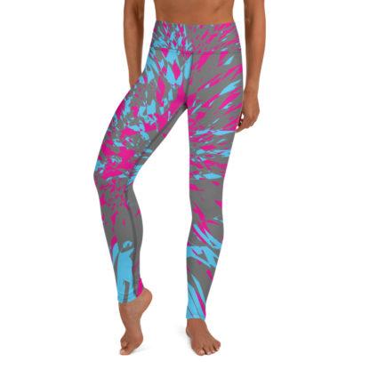 Shattered Colours Grey Yoga Leggings 1