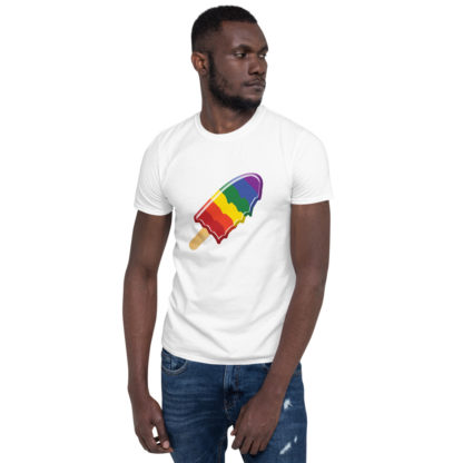 Pride Rainbow Melting Ice Lolly Unisex T-Shirt 4