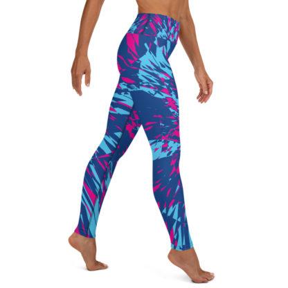 Shattered Colours Blue Yoga Leggings 4