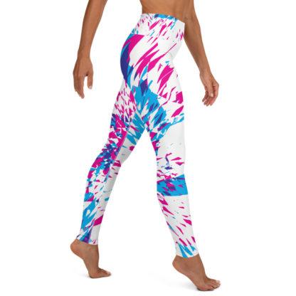 Shards of Colour Yoga Leggings (White) 4