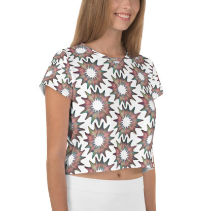Cosmic Flower All-Over Pattern Crop Top 4