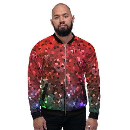 Crystals RGB Unisex Bomber Jacket 1