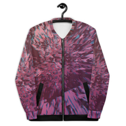 Revenge of the Arcade, 80s Exploding Glitch Unisex Bomber Jacket 1