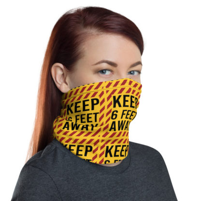 Social Distancing Keep 6FT Face Mask & Neck gaiter -Now Shipping from/to USA & EU fulfilment centres 6