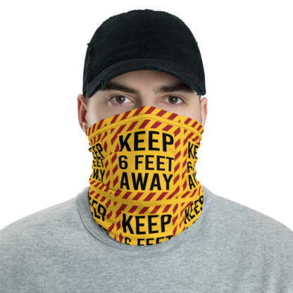 Social Distancing Keep 6FT Face Mask & Neck gaiter -Now Shipping from/to USA & EU fulfilment centres 1