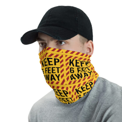Social Distancing Keep 6FT Face Mask & Neck gaiter -Now Shipping from/to USA & EU fulfilment centres 2